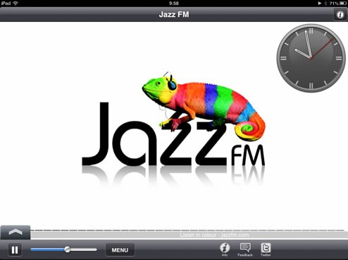Jazz FM iPad Editionを起動