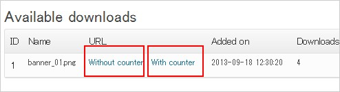 Download Counter for WordPress
