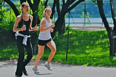 2.外に出て運動をする