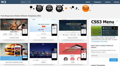 Free Responsive Mobile Website Templates Designs - w3layouts.com