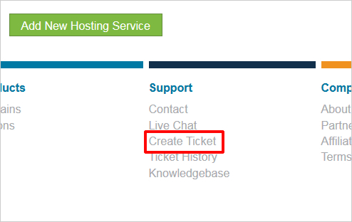 Create Ticket
