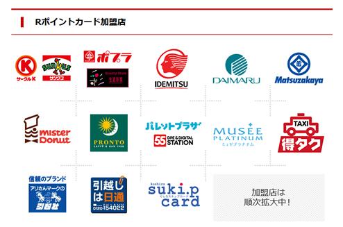 Rポイントカード加盟店