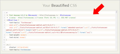 Your Beautified CSS