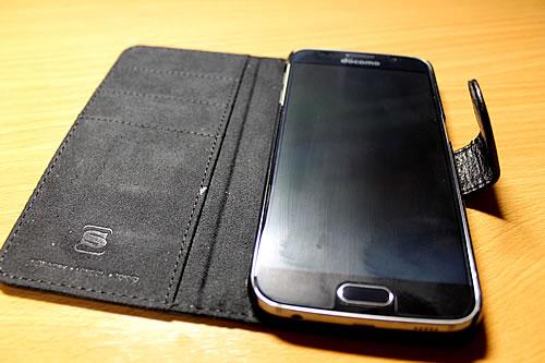 英国Snugg社 Galaxy S6用 PUレザー手帳型ケース